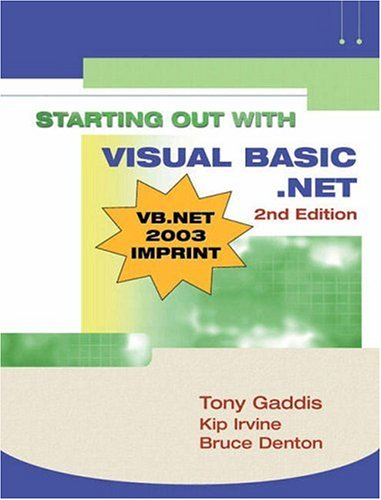 Starting out with Visual Basic.NET (Gaddis)