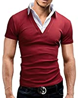 MERISH 2 in 1 Shirt Short Sleeve Polo Shirt in 5 Colours Slim Fit 21