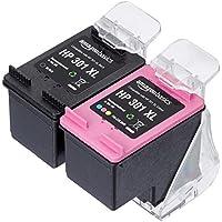 AmazonBasics - Cartucho de tinta regenerado, HP 301XL, negro y tricolor