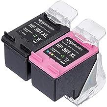 AmazonBasics Cartouche d'Encre pour HP 301XL, Noir et 3 Couleurs (Reconditionné Certifié)
