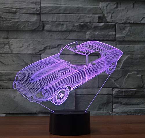 1 Licht-cabrio-anhänger (Bunte led tischlampe cabrio auto dekoratives licht energiesparende steigung nachtlicht)