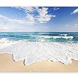 murando - Fototapete Meer Strand 400x280 cm - Vlies Tapete - Moderne Wanddeko - Design Tapete - Wandtapete - Wand Dekoration - Strand Meer See Himmel Blau Landschaft Natur c-B-0035-a-a