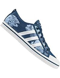 24ddbb635985 Adidas Originals Honey Rayures Espadrille de Canvas Bleu Blanc Rose  Chaussures d65970