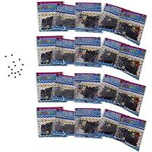 20 Bolsas de Cristal Barro para Decoración de Plantas (Púrpura)