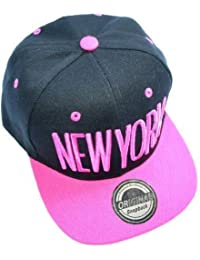 Neues Modell New York Snapback Cap (schwarz-pink)