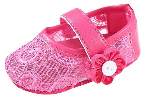 EOZY Babyschuhe Baby Kleinkind Schuhe Lace Blumen Prinzesin Schuhe Rot