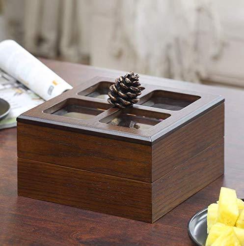 ZZSIccc Obstteller kreative amerikanische Wohnzimmer Hause einfache Mode Persönlichkeit Melone Pralinenschachtel Holz Dekoration getrockneten Obstteller, B