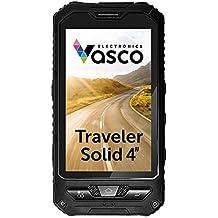 Vasco Traveler Solid 4: Übersetzer für 29 Sprachen, mit Spracherkennung, Gratis-Telefon, GPS Navi. Wasserfest, staubdicht, stoßfest