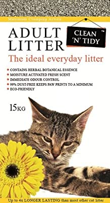 Clean-n-Tidy Adult Everyday Cat Litter, 15 Kg from SHAZO