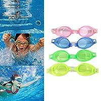 Jiamins Swim Goggles, Kids Swimming Goggles Anti Fog UV Protection, No Leaking Mirrored Racing Swim Goggles for Children