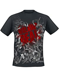 The Walking Dead Zombies Camiseta Negro S