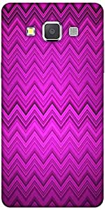 Snoogg Purple Wave Pattern 2426 Hard Back Case Cover Shield For Samsung Galax...
