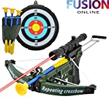 KIDS-CROSSBOW-WITH-LASER-ARCHERY-SET-FUN-ARROW-SHOOTING-TARGET-OUTDOOR-GAME-TOY