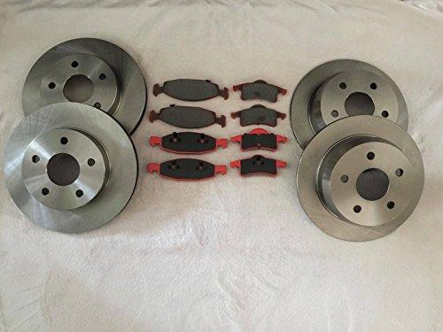 Raybestos Nty set completo di pastiglie e dischi freno posteriore e anteriore Jeep Grand Cherokee WJ 99-02Teves