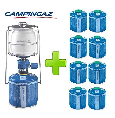 ALTIGASI Lanterne Lampe à gaz Campingaz LUMOGAZ Plus de 80 W + 8 pièces Cartouche CV 300 de 240 GR