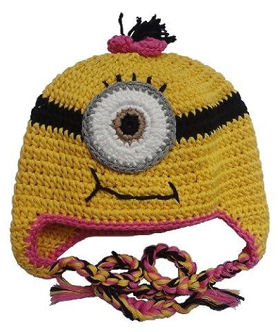 Minion Toddler Costume - Thenice Bonnet Minion Tricot Chaud Hiver Chapeaux
