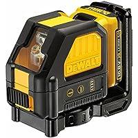 DEWALT DCE088D1R-QW - Láser autonivelante de 2 líneas en cruz (Horizontal y vertical) - Incluye batería DW 10,8V Litio