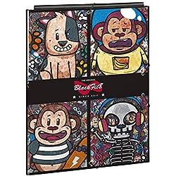 """Blackfit8 """"Monkey"""" Oficial Carpeta Folio Oficial Con 3 Solapas 260x365mm"""