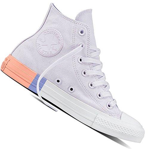Converse Unisex-Erwachsene Chuck Taylor CTAS Hi Canvas Fitnessschuhe, Pink (Barely Grape/Twilight Pulse 551), 39.5 EU (Pastell Converse Schuhe)