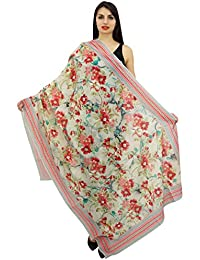 Phagun floral Mujeres largo de la estola del cuello del abrigo de verano Sarong Hijab bufanda-40x72 pulgadas