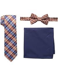 Nick Graham Men's Plaid Neck Tie, Gingham Bow Tie and Pocket Square Set