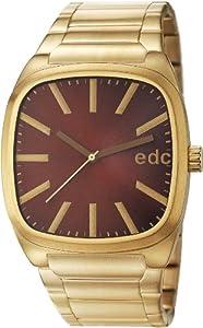 Reloj edc by Esprit retro maestro EE101061003 de cuarzo para hombre, correa de acero inoxidable chapado color dorado de edc by Esprit