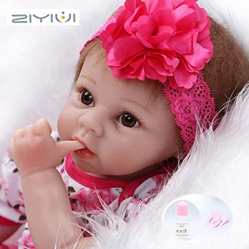 ZIYIUI Bambole Bambino Reborn 22 Pollici Realistica Neonato Bambola Reborn in Silicone Morbido 55 Centimetri Reborn Femmina Aperto Occhi Baby Dolls Giocattolo Regalo