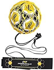 PodiuMax Portable 2 in 1 Football Rebounder |6 x 4.7 ft, Football Hands-Free Kick Trainer | Fit for Size 3/4/5 Ball, Improve Football Passing, Ball control and Solo Skills