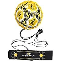 PodiuMax Portable 2 in 1 Football Rebounder  6 x 4.7 ft, Football Hands-Free Kick Trainer   Fit for Size 3/4/5 Ball, Improve Football Passing, Ball control and Solo Skills