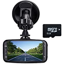 digitsea® Novatek 96220 2.7 LCD 1080P HD Car Truck DVR Vehicle Camera Video Recorder camcorder Road Dash Cam GS8000 /w 8G memory /dual port 12V-24V input truck charger/10feet cable/HDMI interface