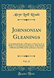 Johnsonian Gleanings, Vol. 11: Consolidated Index of Persons to Parts I to X as Well as to the Johnsonian Portions of the Reades of Blackwood Hill and Dr. Johnson's Ancestry (Classic Reprint)