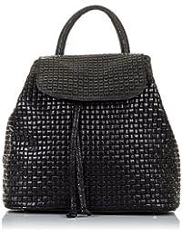 Mochila de mujer casual piel auténtica.Bolso mochila cuero genuino.Piel