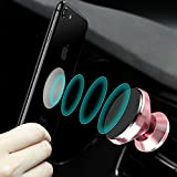 CLM-Tech KFZ Handy-Halterung, 360° drehbar magnetischer Auto Smartphone-Halter universal [Zum Befestigen an der Lüftung] [Magnet für Handy und Handyhülle] [Farbe: rosegold]