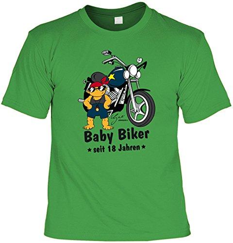 Cooles T-Shirt zum 18. Geburtstag Baby Biker Geschenk zum 18 Geburtstag 18 Jahre Geburtstagsgeschenk 18-jähriger Hellgrün