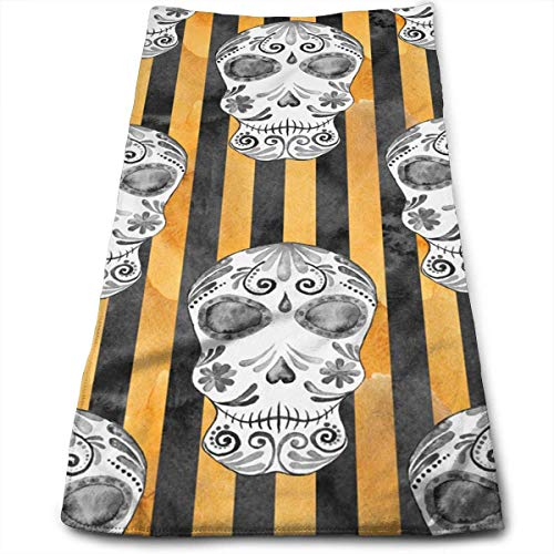ERCGY Colored Striped Cartoon Skeleton Kitchen Towels - Dish Cloth - Machine Washable Cotton Kitchen Dishcloths,Dish Towel & Tea Towels for Drying,Cleaning,Cooking,Baking (12