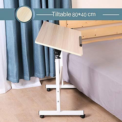HPLL Laptop Tisch Laptop-Tisch, Faltbare Höhenverstellung Laptop-Ständer Schreibtischwagen Für Tablett Bett Sofa Lesetisch, Tischplatte Neigbar, Mit Rollen (3 Farben Optional) Laptoptisch groß höhenve - Optional Rollen Rollen