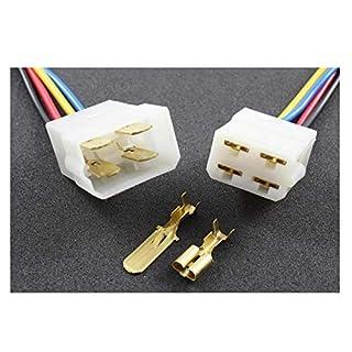 Tama Kabel/Draht Multi Plug Block Verbinder 4-Fach mit Crimpklemmen (2 Set Stecker/Buchse)