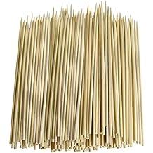 Pack de 300de grosor de bambú Pinchos para barbacoa, pincho, Shish Kebabs, entrantes (6pulgadas)