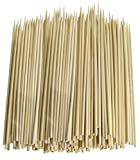 Confezione da 300 Thin Bamboo Skewers for BBQ, Skewer, Shish kebab, antipasti (15,2 cm)