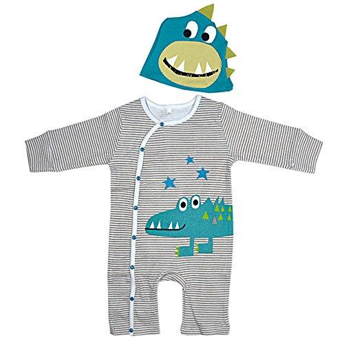 DINGANG® Süßes Baby Junge Mädchen Kleider Tier Strampelhöschen Mit Hut Langärmlige Overalls