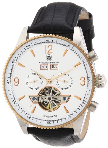 Constantin Durmont Men's Automatic Watch Travis CD-TRAV-AT-LT-STRG-WH with Leather Strap