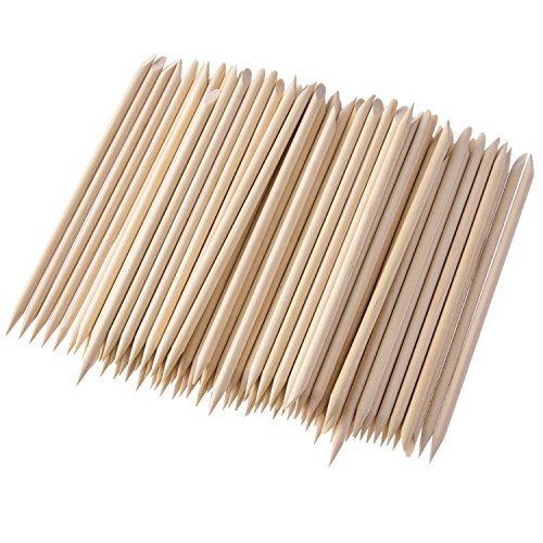 200 Packungen Holz Sticks, doppelseitig Nail Art Multifunktional Nagelhautschieber Entferner Maniküre Pediküre Werkzeug