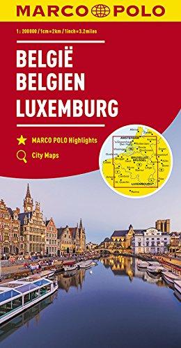 MARCO POLO Karte Belgien, Luxemburg 1:200 000 (MARCO POLO Karten 1:200.000)