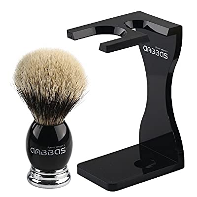 Anbbas Finest Badger Hair Shaving Brush and Drip Stand for Men Shaving Grooming Kit by Anbbas