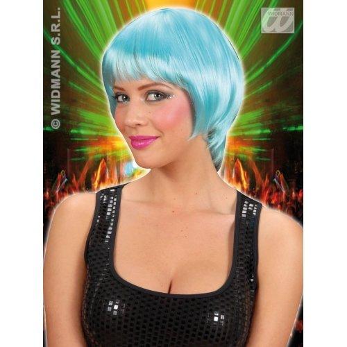 Sancto Disco Perücke 70er Frisur blau Einheitsgröße (Frisuren 70er Disco)