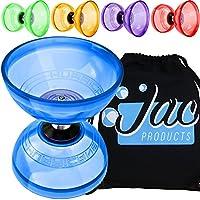 Juggle Dream Hurricane Triple Bearing Diabolo with Cotton Bag - Jumbo Clutch Diablo - All Colours – Bundle - 2 Items