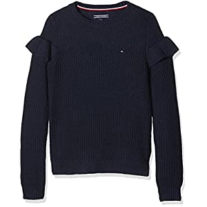 Tommy Hilfiger Ruffle Sweater L/S suéter para Niñas