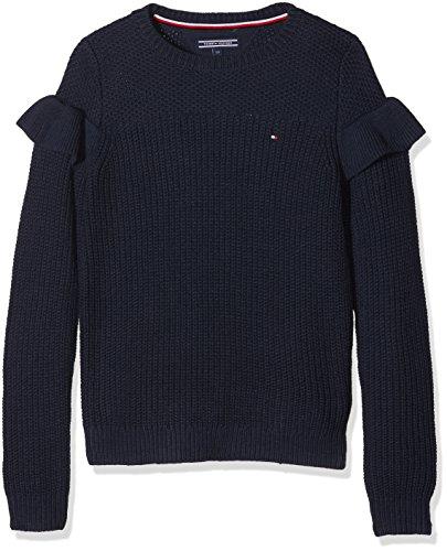 Tommy Hilfiger Ruffle Sweater L/S, suéter para Niñas