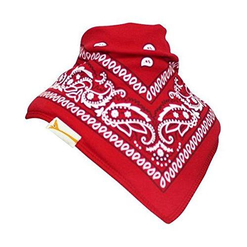 Red & White Patterned Bandana Bib - Funky Bandana