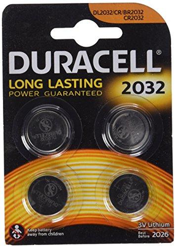 Galleria fotografica Duracell Batterie al Litio Specialistiche a Bottone, Stilo 2032, Confezione da 4